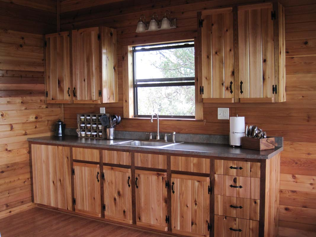 small rustic cabin kitchens the image